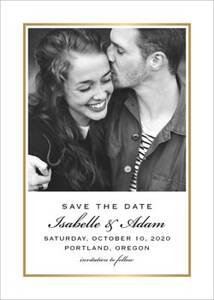 Thin Line Frame Save the Date Card