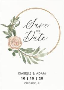 Hoop Wreath Save the Date Card